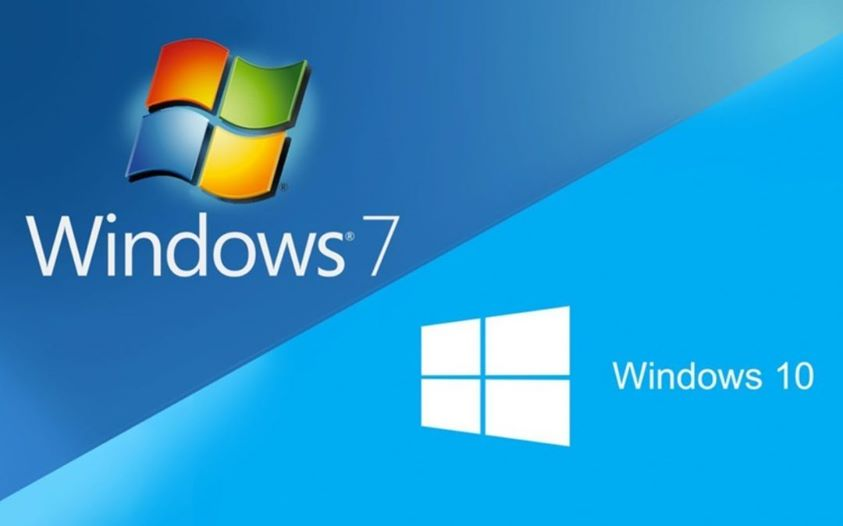 Windows 7 to 10
